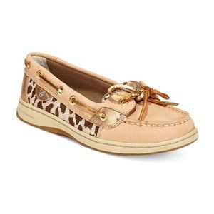 Sperry Top-Sider Women's Angelfish Leopard Shimmer Boat Shoe STS91529